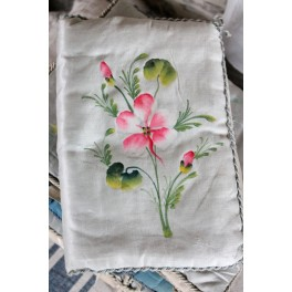 Fransk Lingeri-taske [Rosa blomst] 27x17,5cm