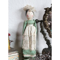 Trædukke Primitiv  [Peg doll] ~1890 [H29cm]