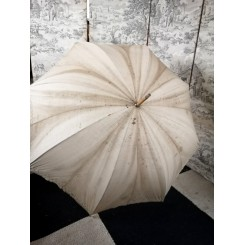 Fransk Vintage Sol Parasol [L94 cm] M. Broderi