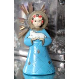Religiøs Figur med Lam [H-14 cm]