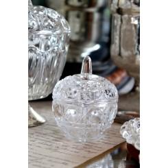 Gl. Krystalskål med Låg [H8cm]